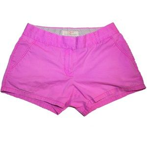 Jcrew Chino shorts bright pink purple size 4